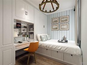 美式 简美 二居 收纳 小资 卧室图片来自阳光力天装饰在力天装饰- 北宁湾-88㎡-美式的分享