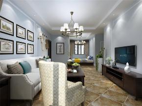 美式 简美 二居 小资 收纳 客厅图片来自阳光放扉er在力天装饰-瑞民里-95㎡-简美的分享