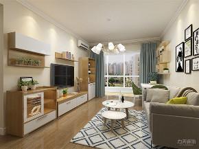 北欧 欧式 二居 收纳 小资 客厅图片来自阳光放扉er在力天装饰-金谷园 -80㎡-北欧风格的分享