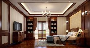 美式 别墅 大户型 跃层 复式 小资 80后 卧室图片来自高度国际姚吉智在304平米美式乡村经典独栋别墅的分享