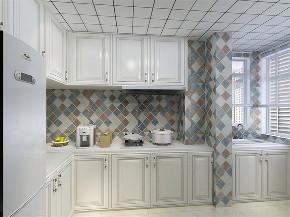 美式 简美 二居 小资 收纳 厨房图片来自阳光放扉er在力天装饰-瑞民里-95㎡-简美的分享