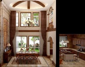 美式 别墅 大户型 跃层 复式 小资 80后 餐厅图片来自高度国际姚吉智在304平米美式乡村经典独栋别墅的分享
