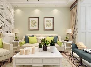 简美 美式 二居 白领 小资 客厅图片来自阳光力天装饰在力天装饰-时代蓝湾-67㎡-简美的分享