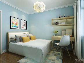 北欧 欧式 二居 收纳 小资 卧室图片来自阳光放扉er在力天装饰-金谷园 -80㎡-北欧风格的分享