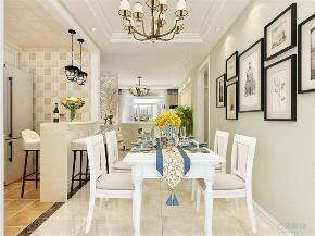 简美 美式 二居 白领 小资 餐厅图片来自阳光力天装饰在力天装饰-时代蓝湾-67㎡-简美的分享