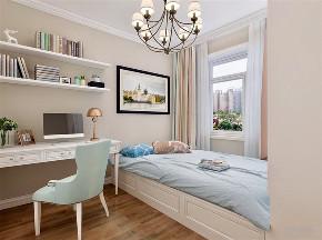 简美 美式 二居 白领 小资 卧室图片来自阳光力天装饰在力天装饰-时代蓝湾-67㎡-简美的分享