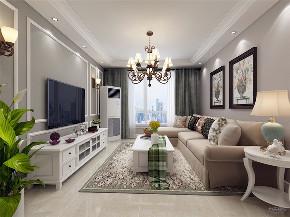 美式 简美 二居 收纳 小资 客厅图片来自阳光力天装饰在力天装饰- 北宁湾-88㎡-美式的分享