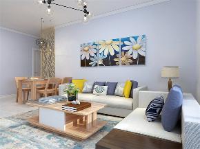 简约 现代 二居 白领 小资 客厅图片来自阳光放扉er在力天装饰-水岸花园-100㎡-现代1的分享