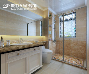 简美 幸福里 城市人家 客厅 卧室 餐厅 卫生间图片来自太原城市人家装饰车涛在幸福里150平米简美风格设计的分享