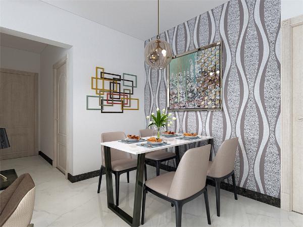 客厅运用了最具有简约风特点的沙发和座椅,配上线条简单的茶几,电视柜和餐桌椅给人温馨安静又舒适的感觉。