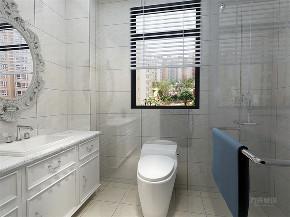美式 简美 二居 小资 收纳 卫生间图片来自阳光放扉er在力天装饰-瑞民里-95㎡-简美的分享
