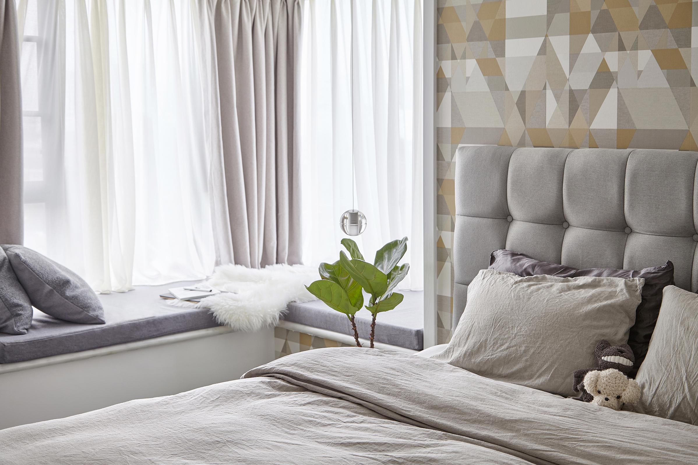 INS风 现代 年轻派 卧室图片来自尚舍设计在90后の小窝的分享