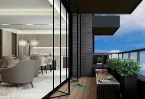 三居 休闲 阳台图片来自幸福空间在152平欧美度假感温泉养生宅的分享