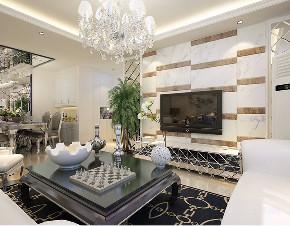 新古典 二居 白领 收纳 80后 小资 客厅图片来自阳光放扉er在力天-远洋万和城124㎡-新古典的分享