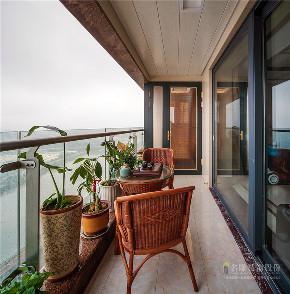 简约 三居 新中式装修 广州装修 装修实景 阳台图片来自广州名雕装饰在禅意东方,让空间充满文化气息的分享