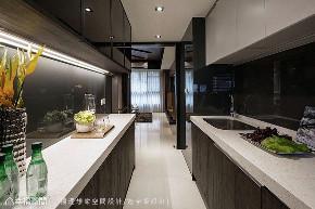 三居 现代 厨房图片来自幸福空间在把森林带回家 69平艺文风木质居的分享