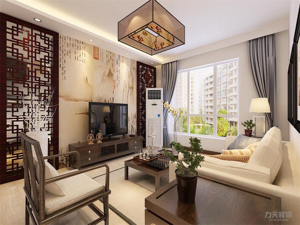 中式 二居 白领 收纳 小资 客厅图片来自阳光力天装饰在力天装饰-远洋风景80㎡新中式的分享