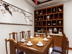 中式 二居 白领 收纳 80后 小资 餐厅图片来自阳光力天装饰在力天装饰-江南苑75㎡-中式的分享