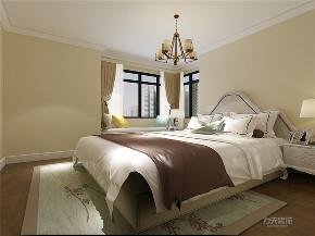 美式 二居 白领 80后 小资 卧室图片来自阳光放扉er在力天装饰-欧铂城-75㎡美式风格的分享