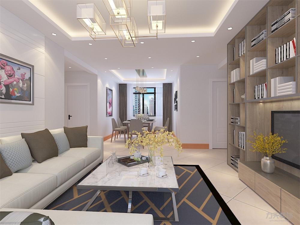 简约 二居 收纳 旧房改造 小资 客厅图片来自阳光力天装饰在力天装饰奥莱城109㎡现代简约的分享