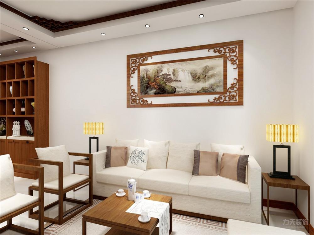 中式 二居 白领 收纳 80后 小资 客厅图片来自阳光力天装饰在力天装饰-江南苑75㎡-中式的分享