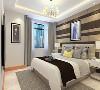 主卧采用800*800地砖45度斜铺,采用现代风格的家具,体现出年轻人的活力和时尚,墙面采用白色乳胶漆,回字型吊顶,使整体休息环境更为舒适;