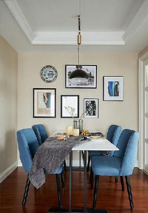 餐厅图片来自家装大管家在简单优雅 100平现代美式混搭3居的分享