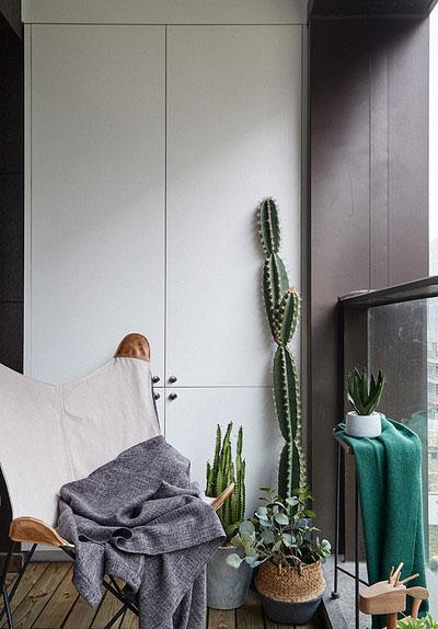 阳台图片来自家装大管家在简单优雅 100平现代美式混搭3居的分享