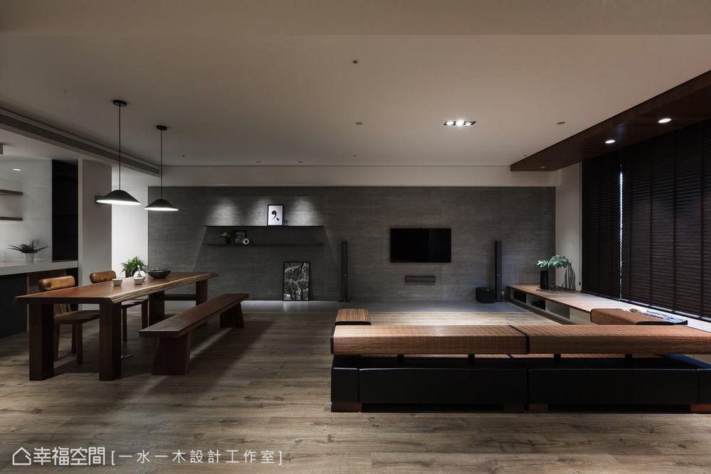 禅风 三居 客厅图片来自幸福空间在沉稳洗炼 132平现代简约禅风雅居的分享