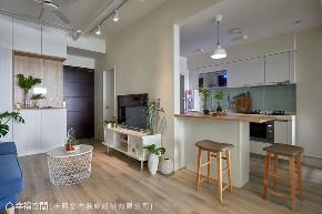 二居 小户型 北欧 厨房图片来自幸福空间在跳色小清新 46平简约北欧宅的分享