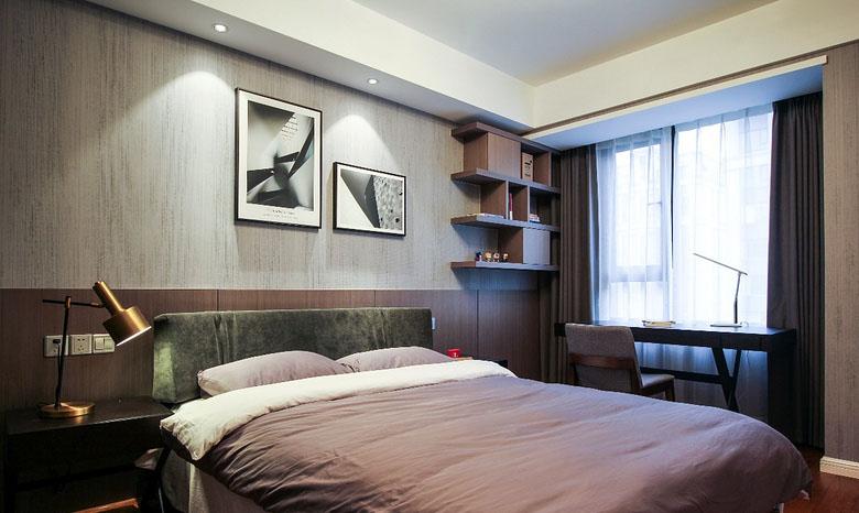 卧室图片来自家装大管家在128平现代简约3居 年轻人轻奢风的分享