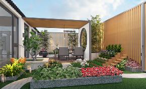 阳台图片来自圣奇凯尚室内设计工作室在圣奇凯尚装饰—新中式院景的分享