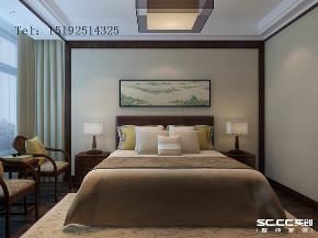 三居 装修设计 新城 香溢紫郡 装修 中式 卧室图片来自实创装饰小彩在新城香溢紫郡110平新中式的分享