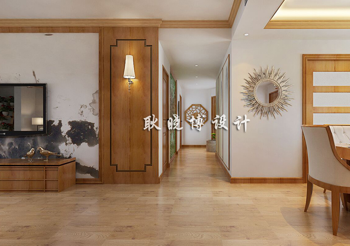 大户型 新中式 奉天九里 客厅图片来自百家设计小刘在奉天九里188平新中式风格的分享
