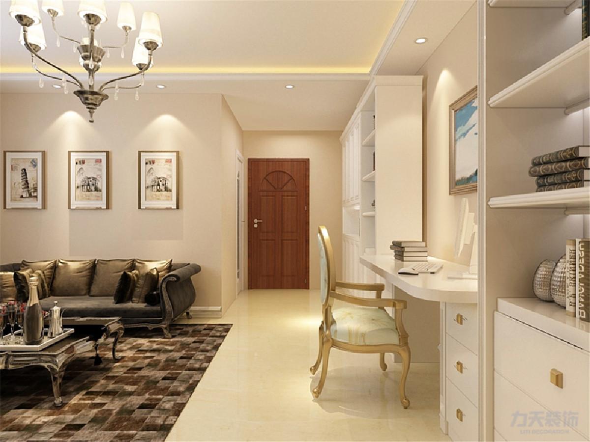 采用800*800瓷砖正铺,视野开阔采光面大,整体墙面用的是浅黄色乳胶漆,彰显家庭温馨气氛