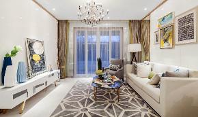 现代 四居 三居 大户型 跃层 复式 小资 80后 客厅图片来自高度国际姚吉智在167平米后现代感受多变的生活的分享