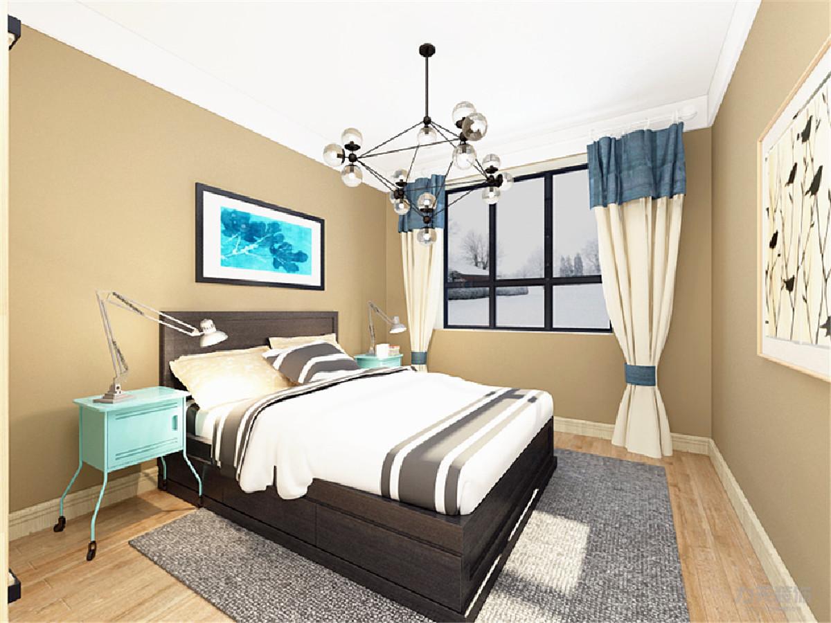卧室在家居装饰的选材上以木质为主,创造自然简朴、高雅的氛围