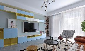 北欧 混搭 三居 白领 客厅图片来自家装大管家在简单舒服 125平北欧雅致时尚3居的分享