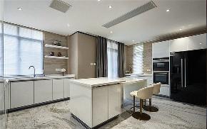 厨房图片来自家装大管家在素雅时尚 140平清爽现代混搭3居的分享