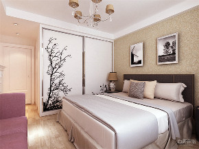 卧室图片来自阳光放扉er在力天装饰 宏城御溪园 125㎡ 简约的分享