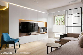 现代 四居 旧房改造 客厅图片来自幸福空间在由设计起始 构筑99平健康新人生的分享