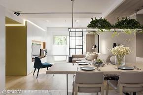 现代 四居 旧房改造 餐厅图片来自幸福空间在由设计起始 构筑99平健康新人生的分享
