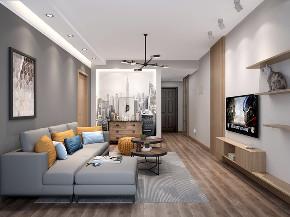 简约 混搭 白领 收纳 小资 现代 灰色 客厅图片来自圣奇凯尚室内设计工作室在圣奇凯尚装饰-后现代风格的分享