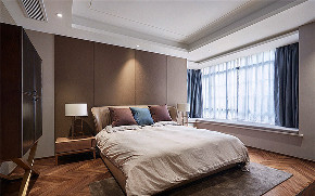 卧室图片来自家装大管家在素雅时尚 140平清爽现代混搭3居的分享