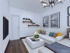 客厅图片来自阳光力天装饰在力天装饰 朝园里 60㎡ 现代简约的分享