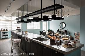 工业 商空 厨房图片来自幸福空间在梦想成真 83平异国怀旧暖心餐厅的分享