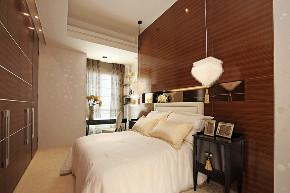 中式 四居 大户型 复式 跃层 别墅 小资 80后 卧室图片来自高度国际姚吉智在253平米新中式一半优雅一半温情的分享