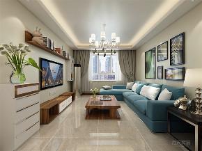 客厅图片来自阳光力天装饰在力天装饰 宝能城 105㎡ 现代简约的分享