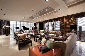中式 四居 大户型 复式 跃层 别墅 小资 80后 客厅图片来自高度国际姚吉智在253平米新中式一半优雅一半温情的分享
