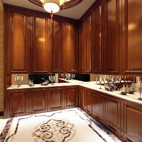 厨房图片来自阳光放扉er在力天装饰 天鹅湖 261㎡ 新中式的分享